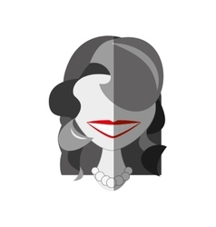 Lady comic character icon vector