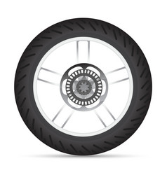 Motorbike wheel vector image vector image