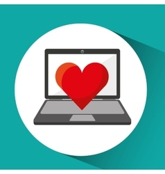 Online store shopping heart love graphic vector