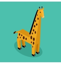 Orange 3d giraffe vector