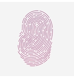 Red touch fingerprint id app with shadows vector image vector image