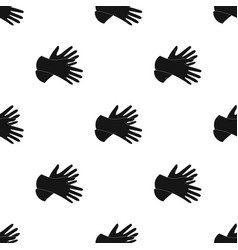 Rubber gloves icon in black style isolated on vector
