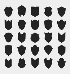 shields silhouettes vector image