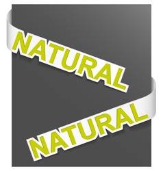 sign natural vector image vector image