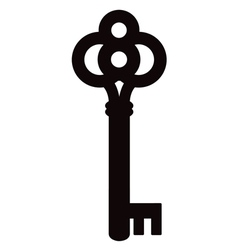 skeleton key silhouette two vector image vector image