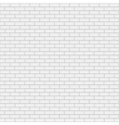 Square white brick wall vector image