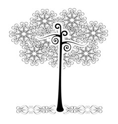 tree flourishes vector image vector image