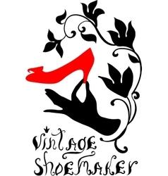 Vintage shoemaker silhouette vector