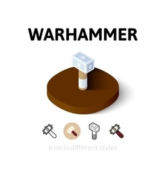 Warhammer icon in different style vector image vector image