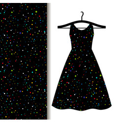 Women dress fabric with space pattern vector