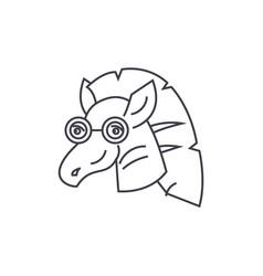 zebra line icon sign on vector image
