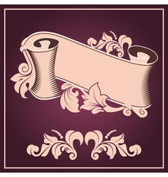 Ribbon in antique vector