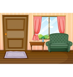Furnitures inside the house vector