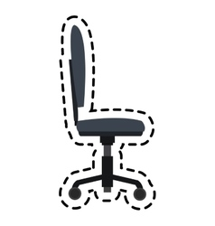 Desk chair icon vector