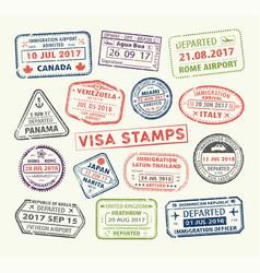 visa passport stamp vector image