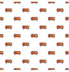 Retro orange radio receiver pattern vector