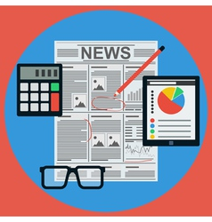 Business news vector