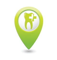 dental clinic icon pointer green vector image