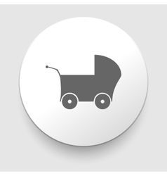 Gray web icon on a white background - buggy vector