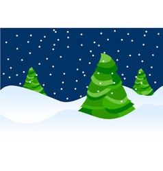 Xmas trees backdrop vector