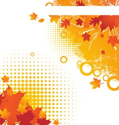 Bright autumn backgound vector
