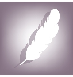 Feather icon with shadow vector