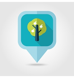 Fruit tree flat pin map icon map pointer vector