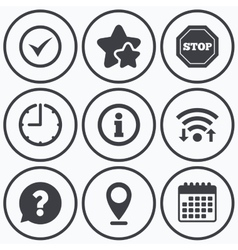 Information icons stop prohibition symbol vector