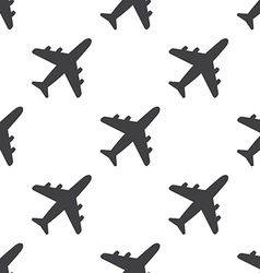 airplane seamless pattern vector image vector image