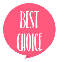 best choice tag red color isolated on white vector image