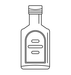 bottle of whiskey icon outline style vector image
