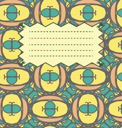Bright multicolored school notebook cover postcard vector