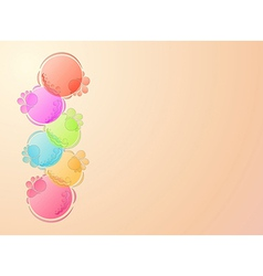 bubbles background vector image vector image