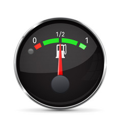 car engine temperature black gauge normal with vector image vector image