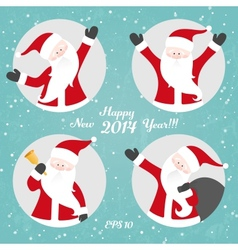 Christmas set with Santa vector image vector image