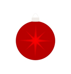 Christmas tree ball isolated on white vector