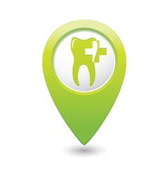 Dental clinic icon pointer green vector