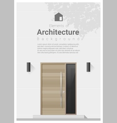 Elements of architecture front door background 3 vector image vector image