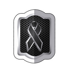 emblem black breast cancer icon vector image vector image