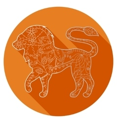 Flat icon of zodiac sign Leo vector image