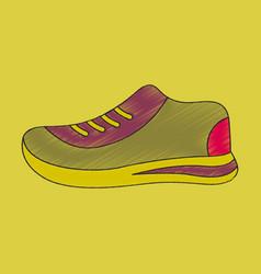 flat shading style icon sports shoes vector image