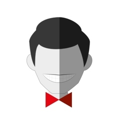gentleman comic character icon vector image