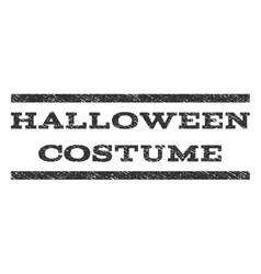 Halloween costume watermark stamp vector