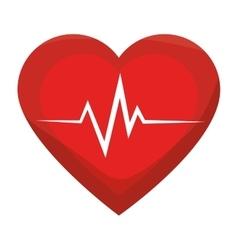 Heart cardiogram medicine vector