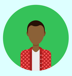 Male avatar profile icon round african american vector