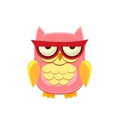Moody pink owl vector