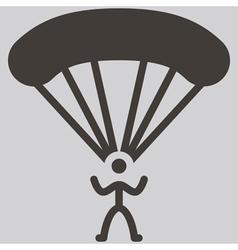 parachute sport icon vector image