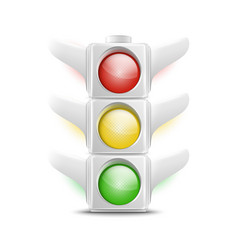 Realistic White Traffic Lights Icon vector image vector image