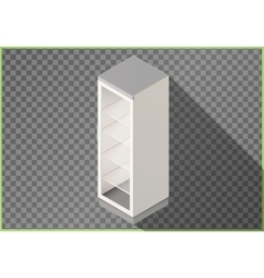 Refrigerator flat isometric fridge 3d vector image