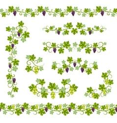 Seamless background pattern vine vector